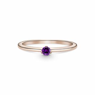 Prstan z vijoličastim kamnom