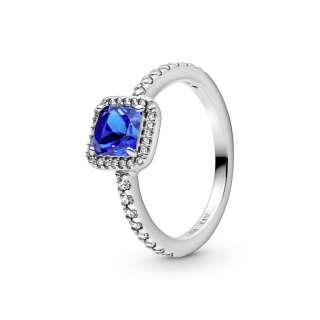 Moder eleganten srebrni prstan