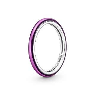 Prstan Pandora ME v vijolični barvi