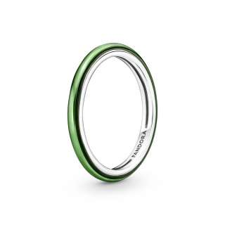 Prstan Pandora ME v lasersko zeleni barvi