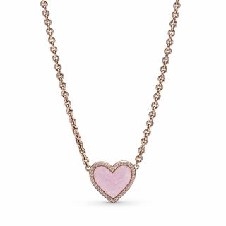 Ogrlica z rožnatim srčkom