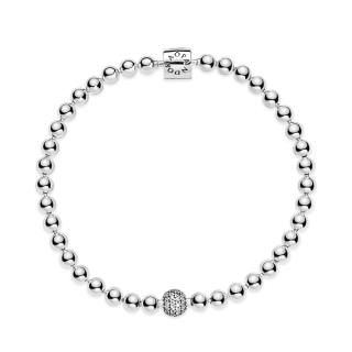 Zapestnica s perlicami v stilu pavé