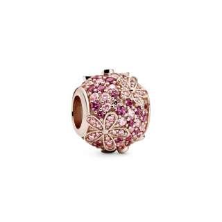 Obesek z rožnato marjetico pavé