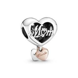 Obesek v obliki srca Thank You Mum