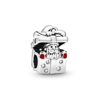Obesek z Božičkom v darilni škatli