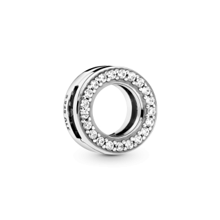 Circle of Pavé Clip Charm