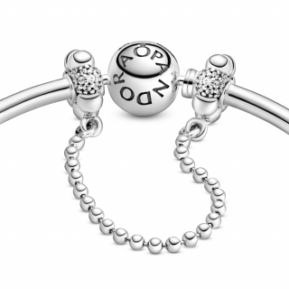 Varnostna verižica s perlicami v stilu pavé