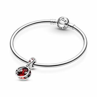 Obesek Disney zaljubljencev Miki in Mini Miške s katerega kar puhtijo poljubčki in ljubezen.