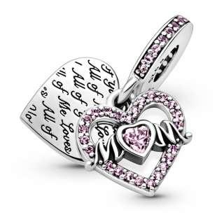 Obesek s srčkom in napisom »Mum«