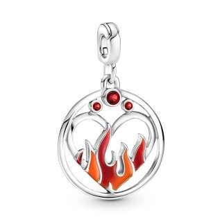 Medaljon Pandora ME ogenj v srcu