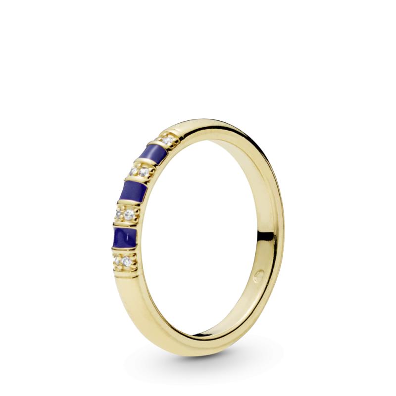 Prstan Shine eksotični prstan s črtami