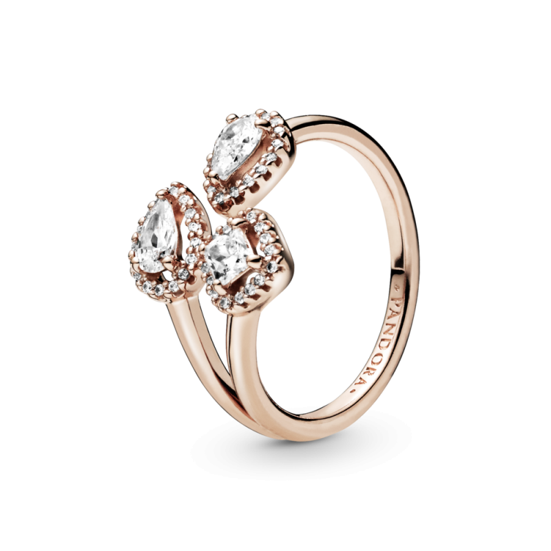 Odprti prstan z geometrijskimi oblikami