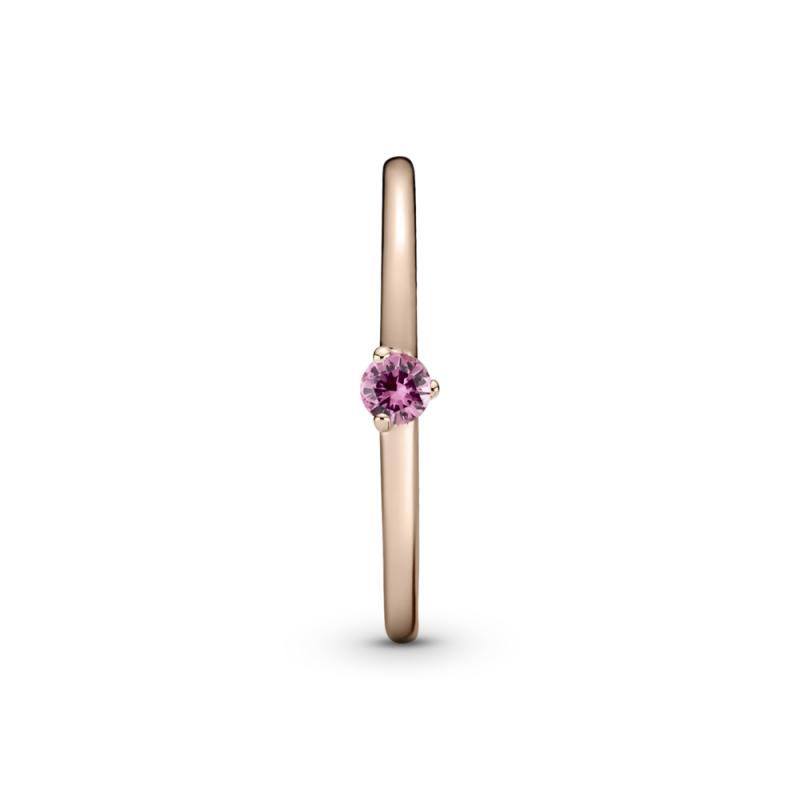 Prstan z rožnatim kamnom