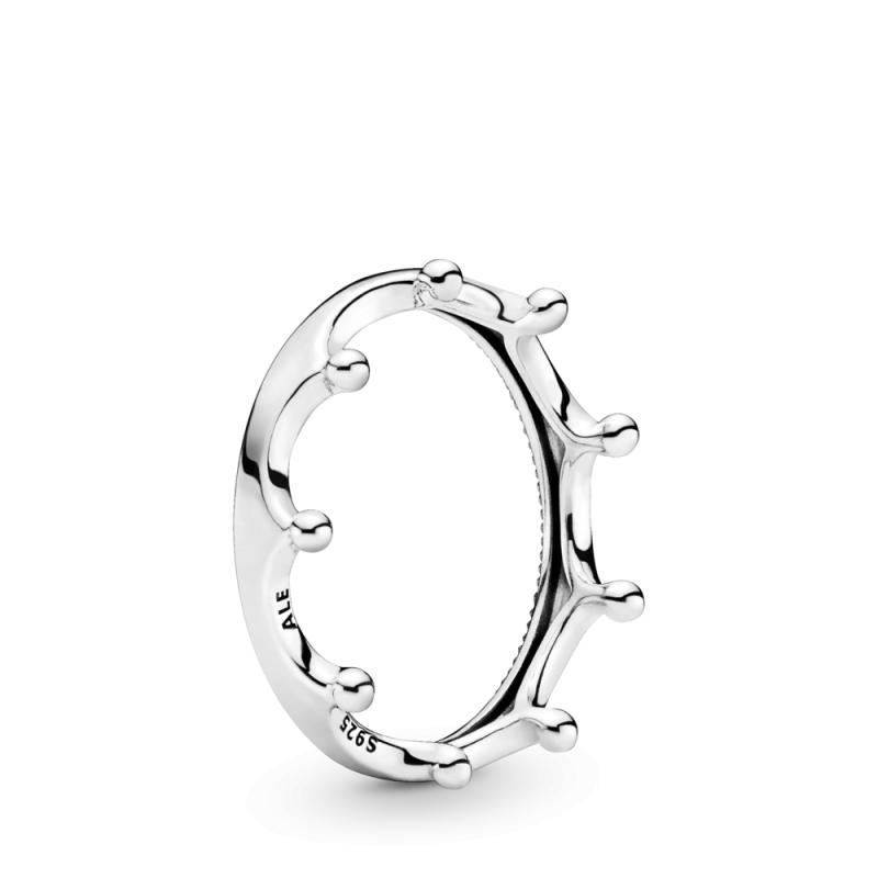 Poliran prstan v obliki krone