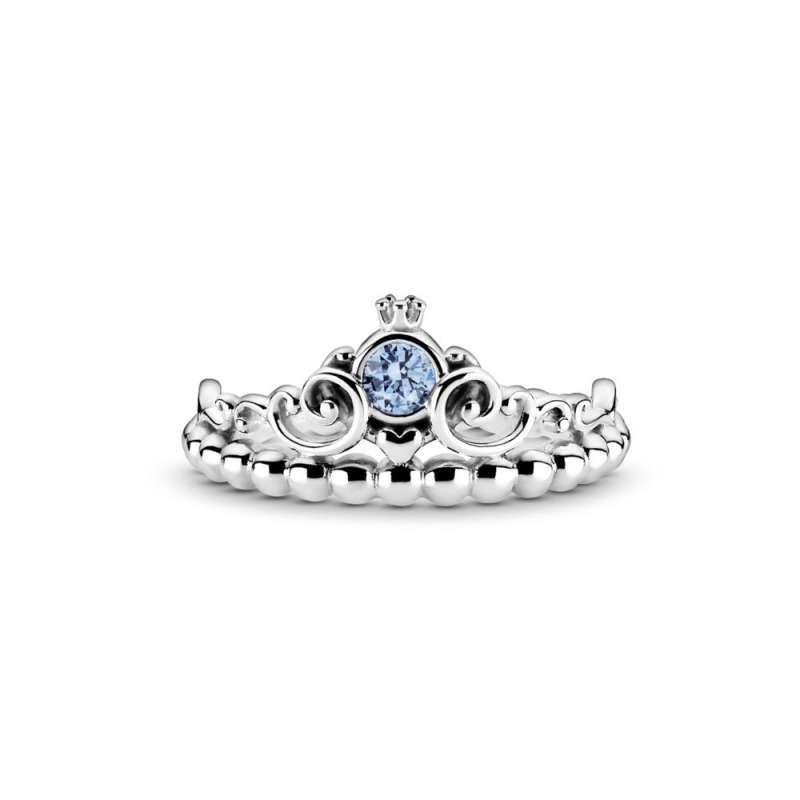 Prstan modra tiara Disney Pepelke