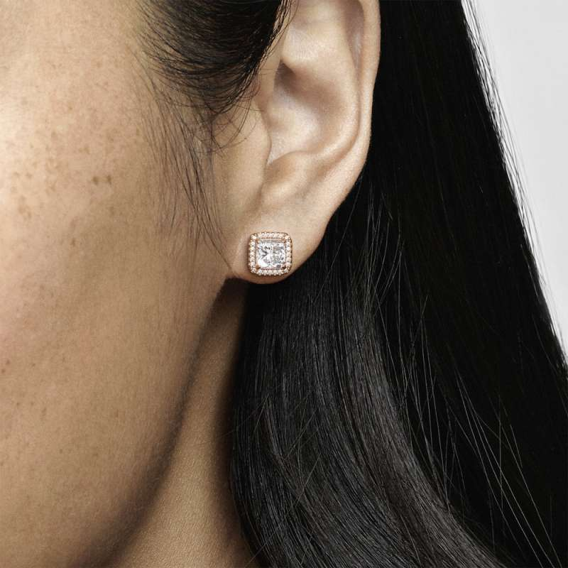 PANDORA Rose uhani s kubičnimi cirkoni