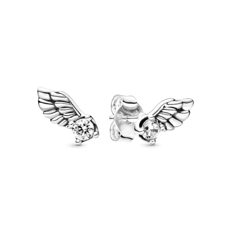 Uhani z motivom angelskih kril