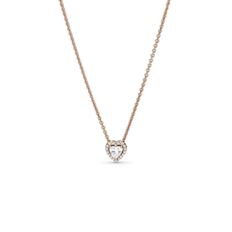 Ogrlica Pandora Rose s srčastim obeskom