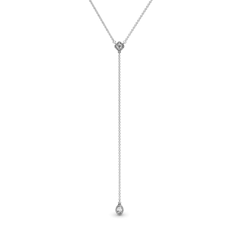 Ogrlica z geometrijskimi oblikami v obliki črke Y