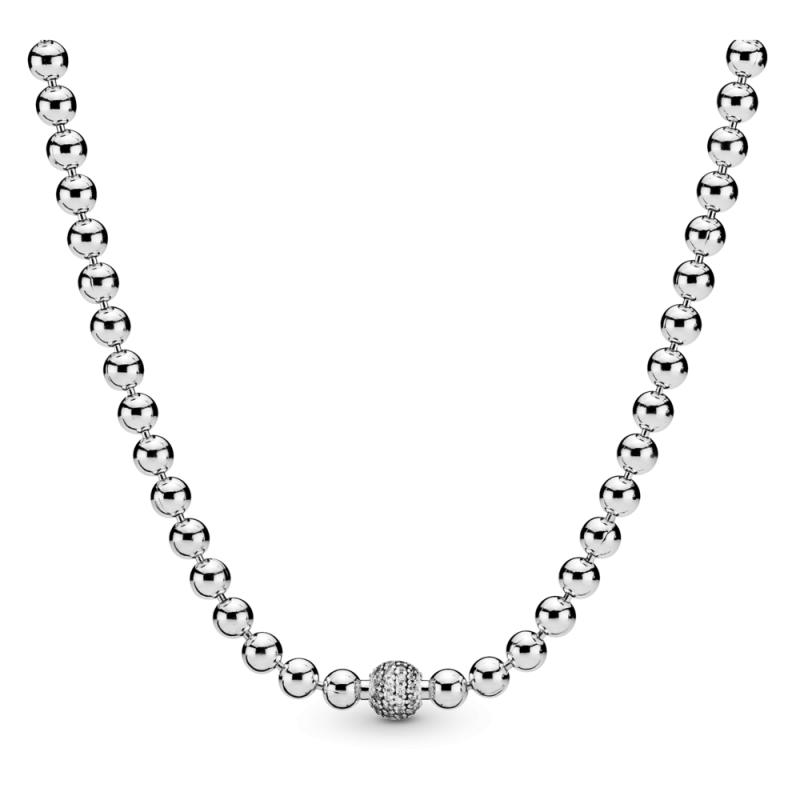 Ogrlica s perlicami v stilu pavé