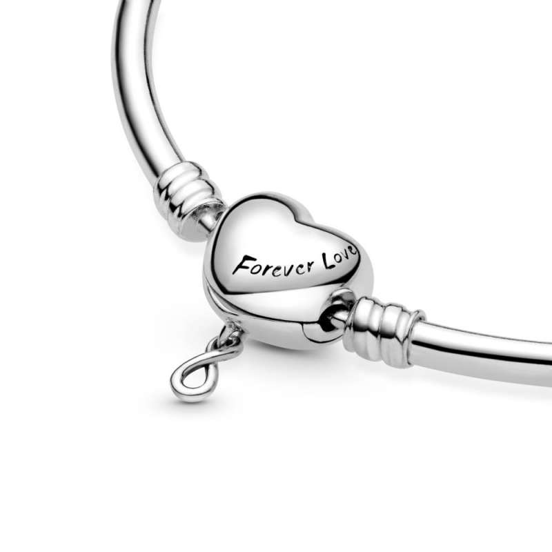 Pandora Moments Infinity Heart Clasp Bangle | SF1 Clips d.o.o