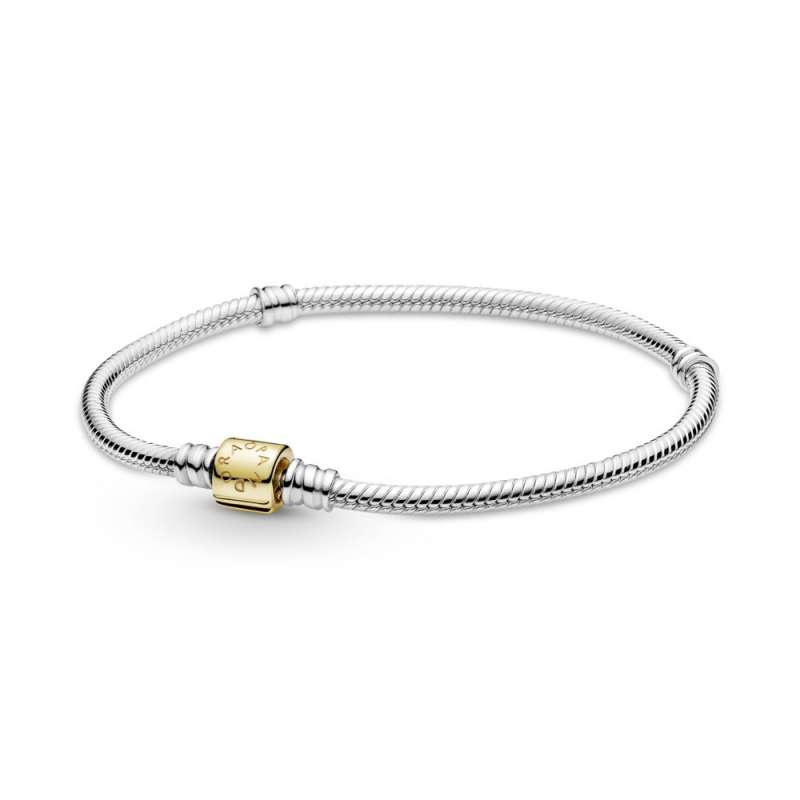Zapestnica Pandora Moments z zlato zaponko v obliki sodčka