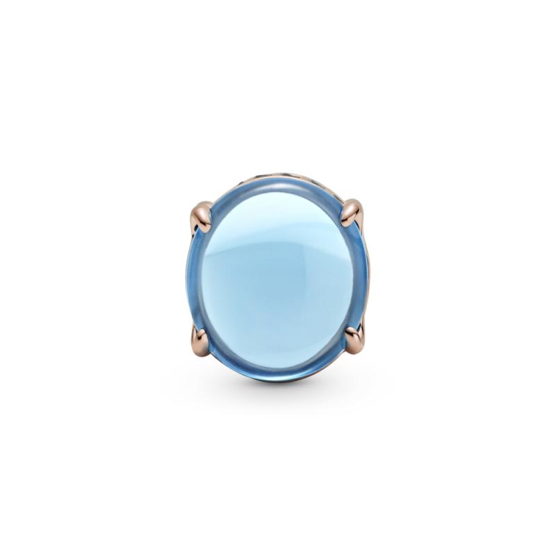Obesek modri ovalni kabošon