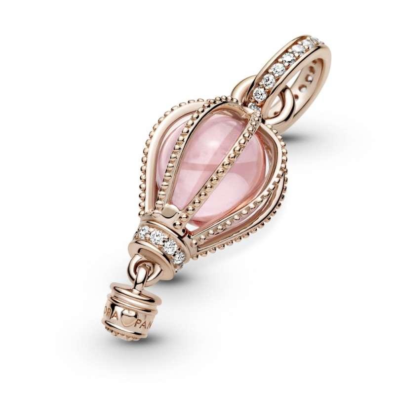 Obesek s svetlikajočim rožnatim balonom