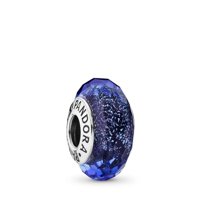 Obesek Modro Murano steklo