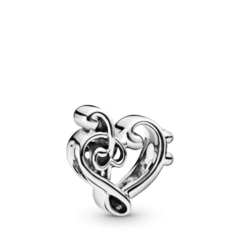 Obesek Srce z violinskim ključem