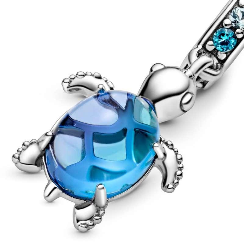 Obesek morske želve iz muranskega stekla