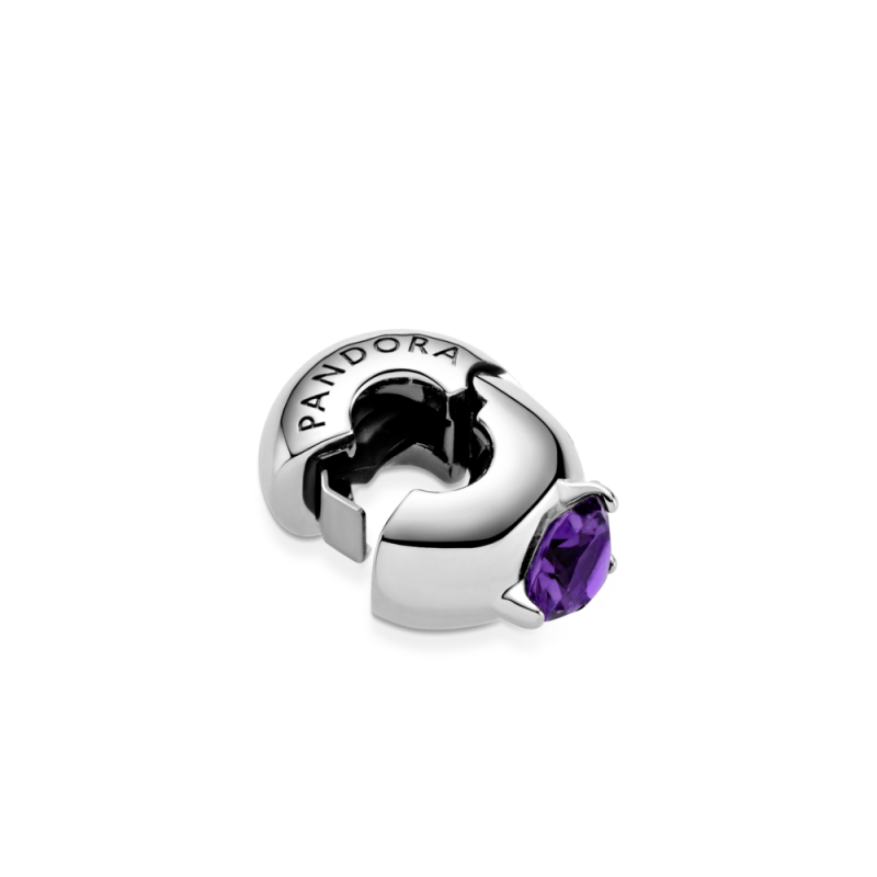 Sponka z vijoličastim kamnom