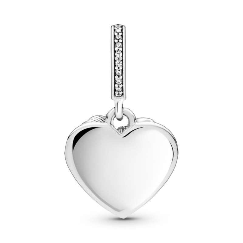 Obesek v obliki srca s pentljico