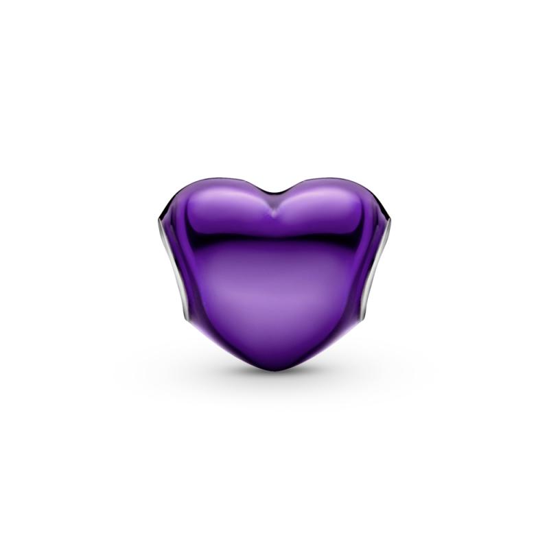 Obesek kovinskega vijoličnega srca