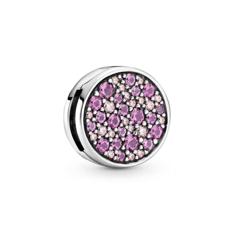 Obesek reflexions z rožnatimi kamenčki na način Pavé