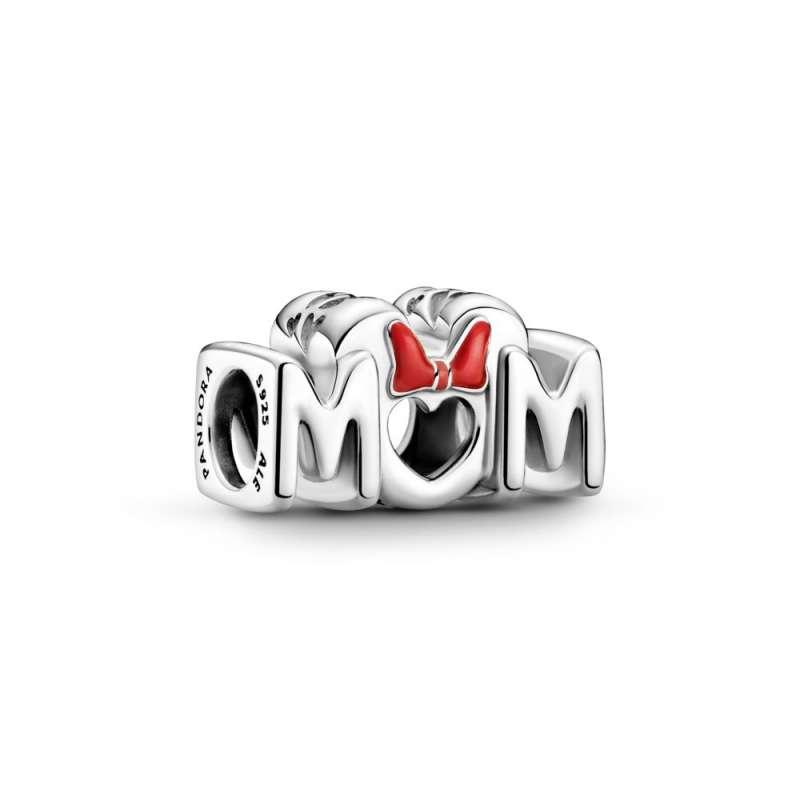 Obesek z Disneyjevo junakinjo Mini Miško, njeno pentljico in napisom »Mum« (mama)